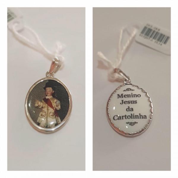 Medalha de prata do Menino Jesus da Cartolinha
